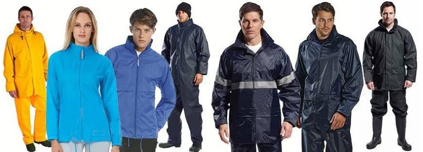 Vestuario laboral para la lluvia y para actividades outdoor