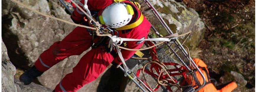 Dispositivos de salvamento y rescate mediante izado o descenso