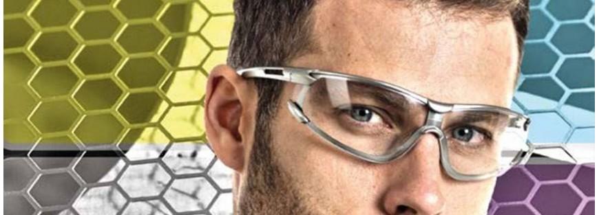 Gafas de seguridad y protección para todos riesgos en el trabajo