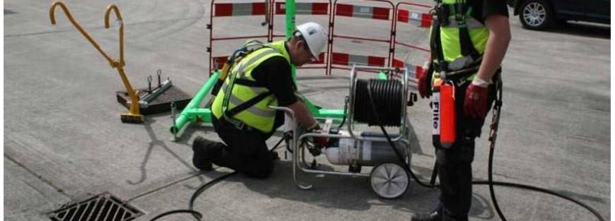 Líneas de aire respirable y carros autónomos suministradores de aire