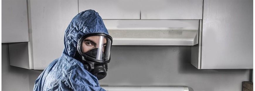 Máscaras profesionales de presión positiva y negativa para protección