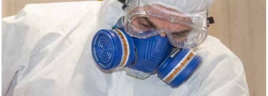 Filtros respiratorios a bayoneta para máscaras y semimáscaras