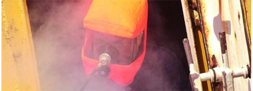 Equipos para escapar de lugares sin aire o con gases peligrosos