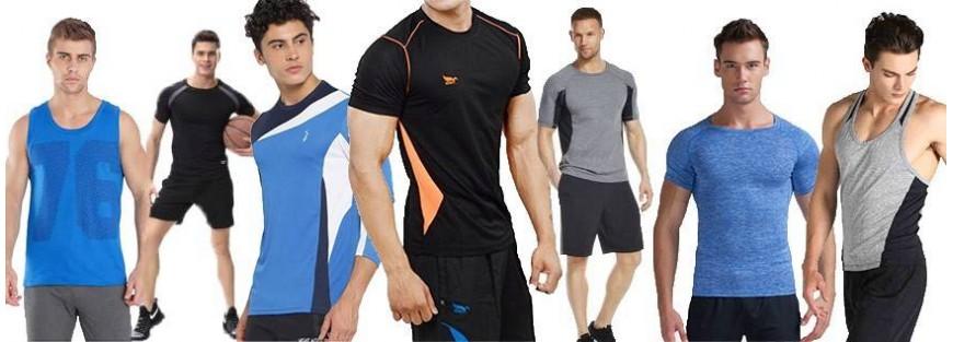 Camisetas y camisas deportivas para hombre