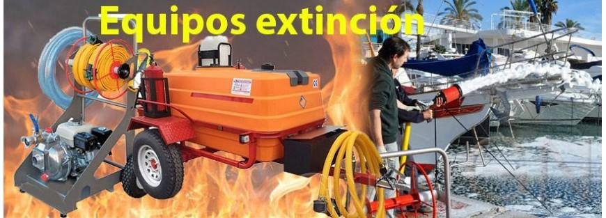 Remolques y bancadas para la extinción de incendios forestales y domésticos