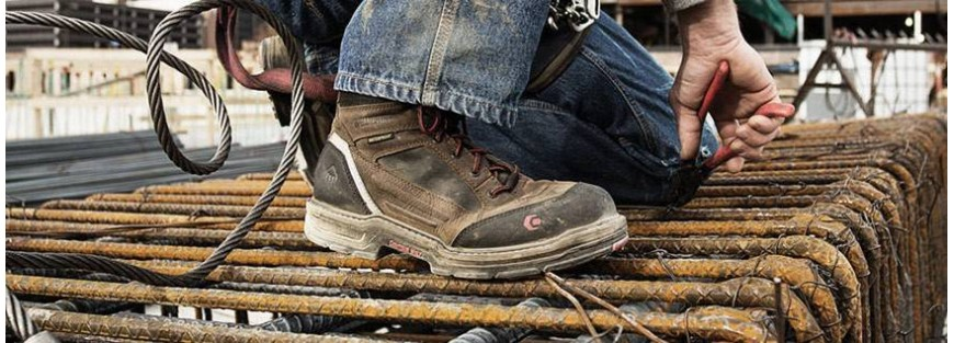 Botas seguridad no metálicas, antideslizantes, puntera y plantilla